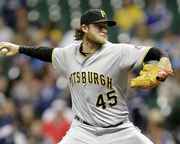 Gerrit Cole Poster featuring the photograph Gerrit Cole by Mike Mcginnis