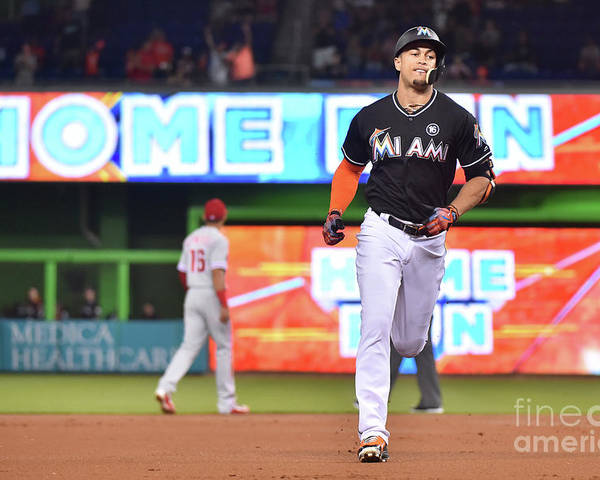 People Poster featuring the photograph Giancarlo Stanton by Eric Espada