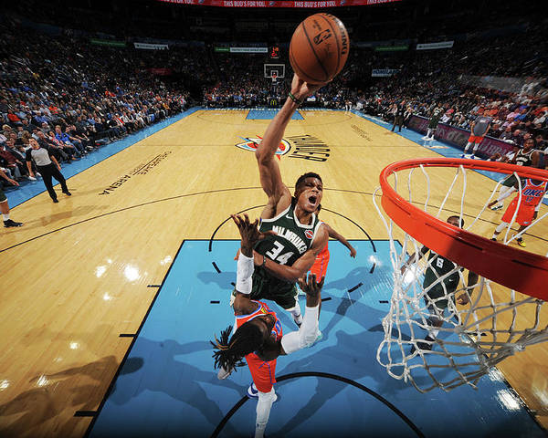Nba Pro Basketball Poster featuring the photograph Giannis Antetokounmpo by Bill Baptist