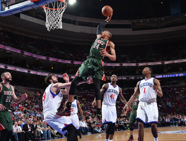 Nba Pro Basketball Poster featuring the photograph Giannis Antetokounmpo by Jesse D. Garrabrant