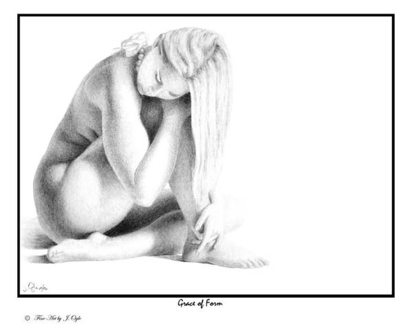Print Poster featuring the drawing Grace Of Form print only by Joseph Ogle