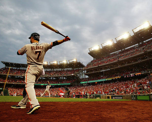 National League Baseball Poster featuring the photograph Gregor Blanco by Al Bello
