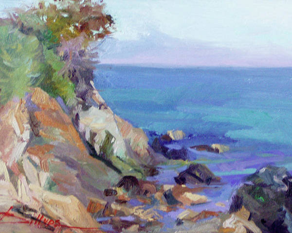 Catalina Island Paintings Poster featuring the painting Hamilton Cove Catalina Island by Betty Jean Billups