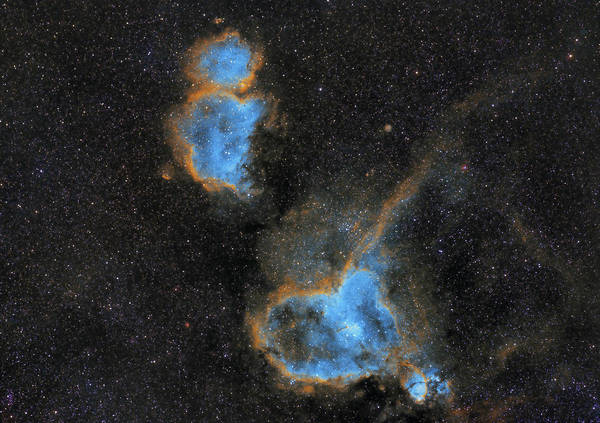 Nebula Poster featuring the photograph Heart and Soul Nebula by Prabhu Astrophotography