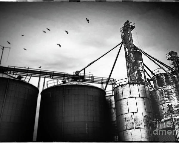 Fine Art Photography Poster featuring the photograph Heartwell Grain Elevator by John Strong
