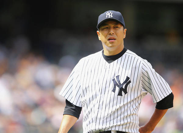 American League Baseball Poster featuring the photograph Hiroki Kuroda by Al Bello