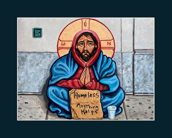 Poster featuring the painting Homeless Christ by Kelly Latimore