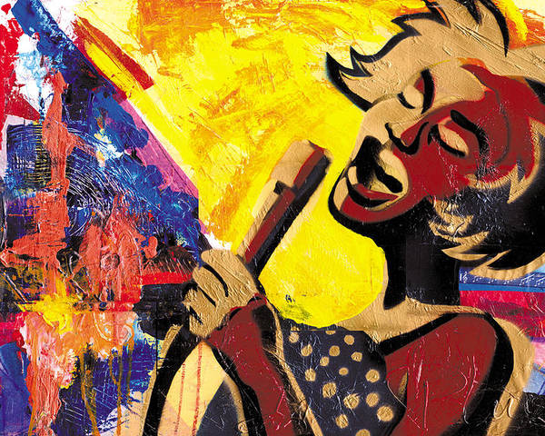 Everett Spruill Poster featuring the painting I Sings Da Blues by Everett Spruill