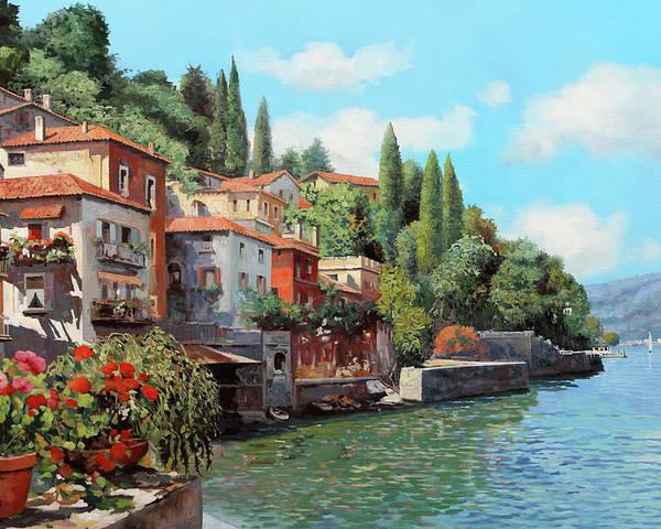 Lake Como Poster featuring the painting Impressioni Del Lago by Guido Borelli
