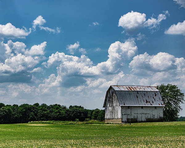 Barn Poster featuring the photograph Indiana Barn, #5 by Scott Smith