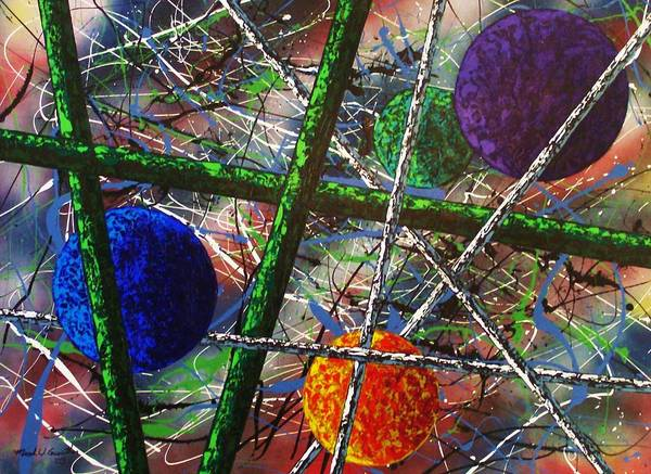 Contemporary / Abstract Poster featuring the painting Inner Space by Micah Guenther