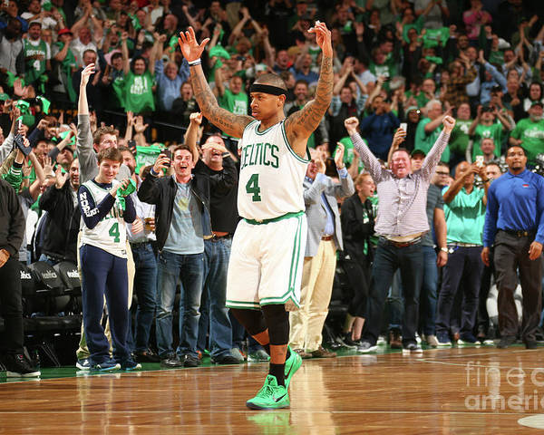 Playoffs Poster featuring the photograph Isaiah Thomas by Ned Dishman