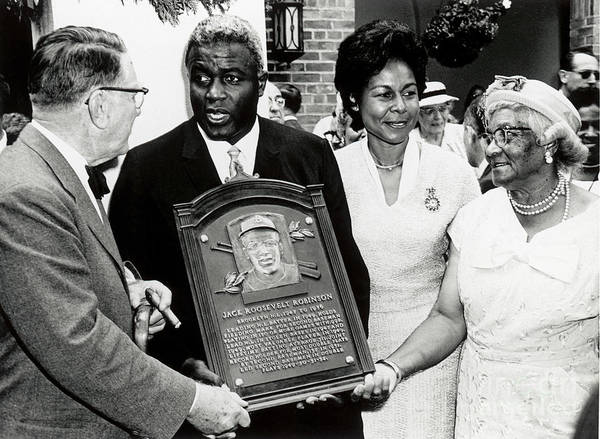 People Poster featuring the photograph Jackie Robinson by National Baseball Hall Of Fame Library