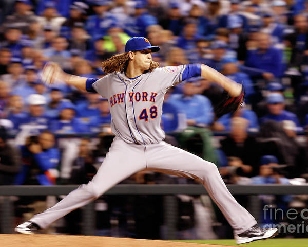 Jacob Degrom Poster featuring the photograph Jacob Degrom by Christian Petersen