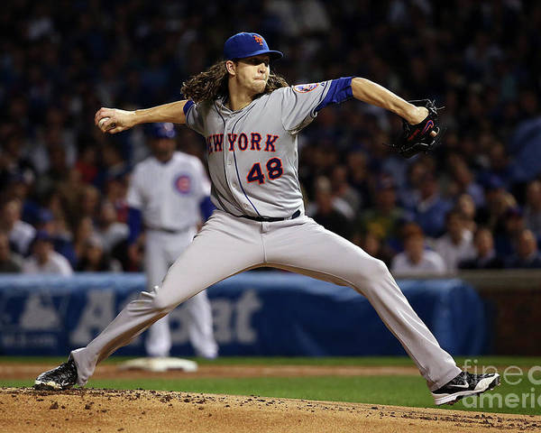 Jacob Degrom Poster featuring the photograph Jacob Degrom by Jonathan Daniel