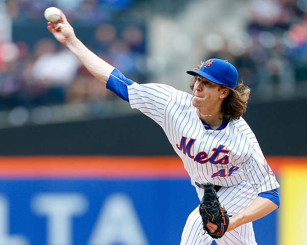 Jacob Degrom Poster featuring the photograph Jacob Degrom by Mike Stobe
