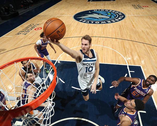 Nba Pro Basketball Poster featuring the photograph Jake Layman by Jordan Johnson