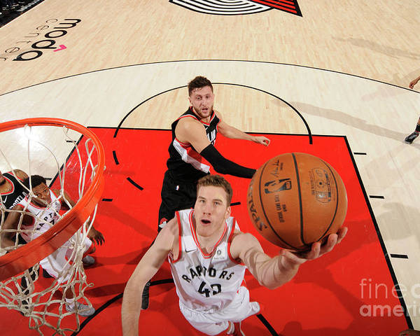 Nba Pro Basketball Poster featuring the photograph Jakob Poeltl by Cameron Browne