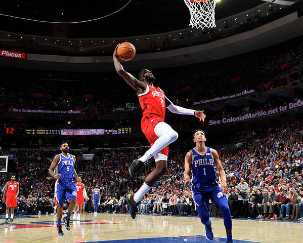 Nba Pro Basketball Poster featuring the photograph James Ennis by Jesse D. Garrabrant
