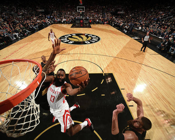 Nba Pro Basketball Poster featuring the photograph James Harden by Ron Turenne
