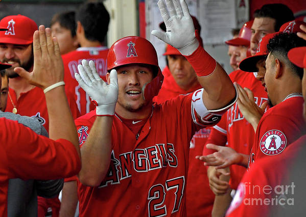 People Poster featuring the photograph James Shields and Mike Trout by Jayne Kamin-oncea