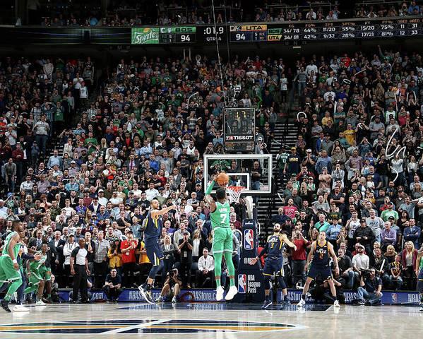 Nba Pro Basketball Poster featuring the photograph Jaylen Brown by Melissa Majchrzak
