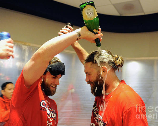Championship Poster featuring the photograph Jayson Werth and Bryce Harper by Greg Fiume