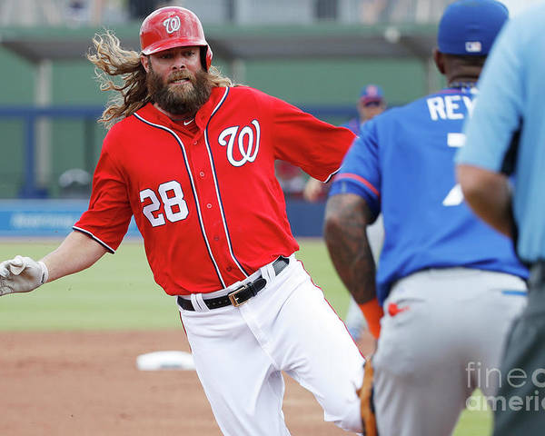 Three Quarter Length Poster featuring the photograph Jayson Werth and Bryce Harper by Joe Robbins