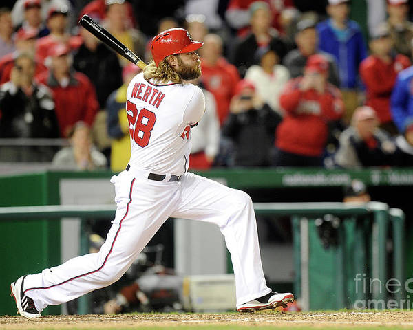 American League Baseball Poster featuring the photograph Jayson Werth by Greg Fiume