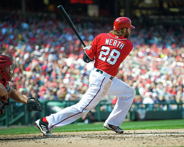 Motion Poster featuring the photograph Jayson Werth by Rob Tringali