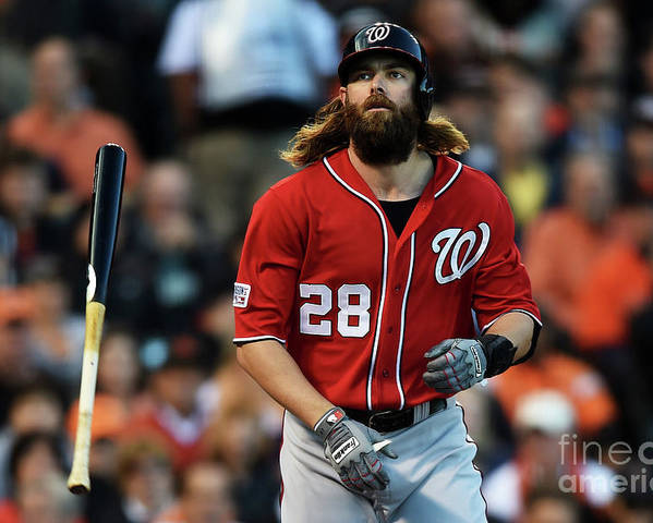 San Francisco Poster featuring the photograph Jayson Werth by Thearon W. Henderson