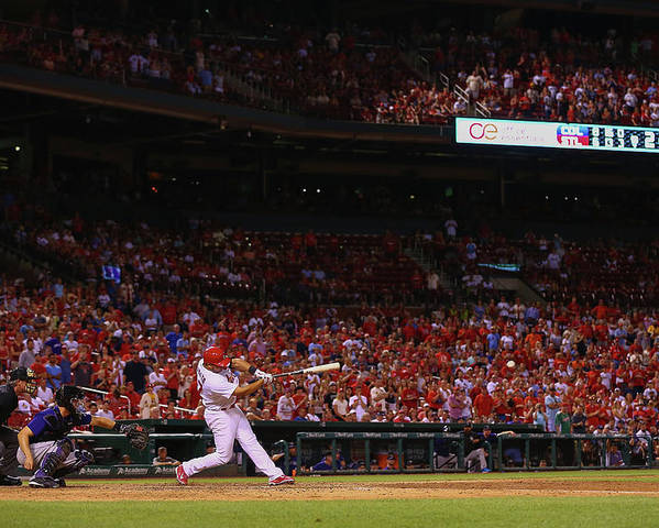 St. Louis Cardinals Poster featuring the photograph Jhonny Peralta by Dilip Vishwanat