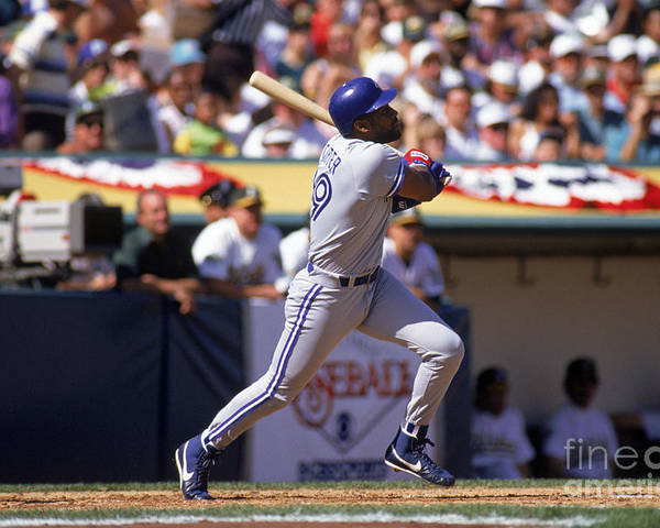 American League Baseball Poster featuring the photograph Joe Carter by Otto Greule Jr