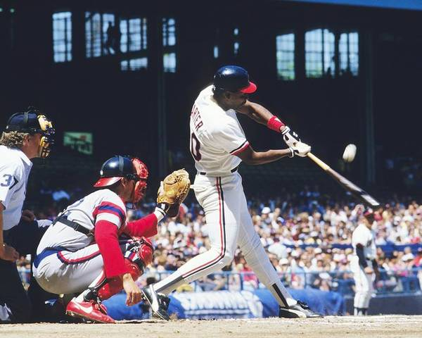 1980-1989 Poster featuring the photograph Joe Carter by Ronald C. Modra/sports Imagery