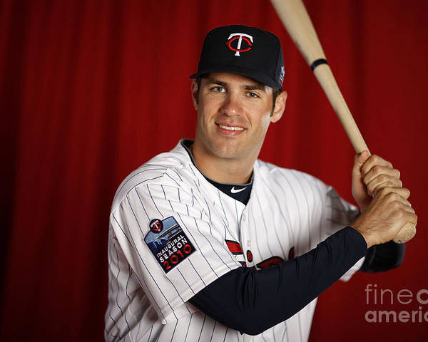 Media Day Poster featuring the photograph Joe Mauer by Gregory Shamus