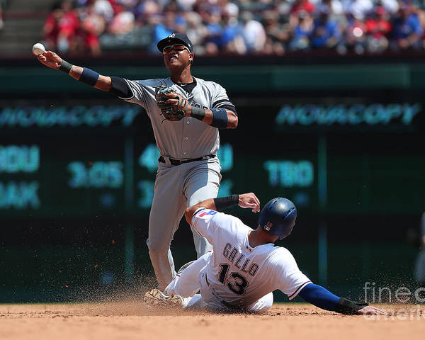 People Poster featuring the photograph Joey Gallo and Starlin Castro by Richard Rodriguez