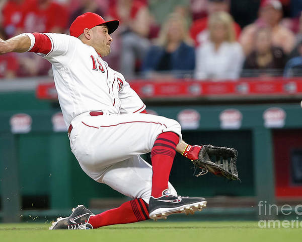 Great American Ball Park Poster featuring the photograph Joey Votto by Michael Hickey