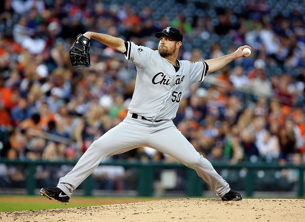 American League Baseball Poster featuring the photograph John Danks by Duane Burleson