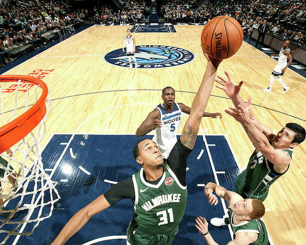 Nba Pro Basketball Poster featuring the photograph John Henson by David Sherman