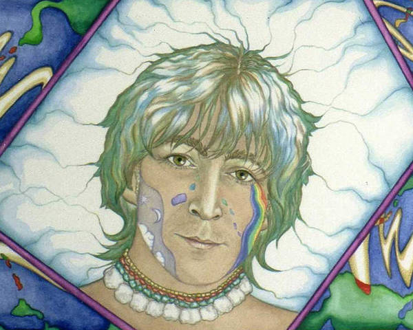 John Lennon Poster featuring the painting John Lennon Tripping by Sheilah Renaud