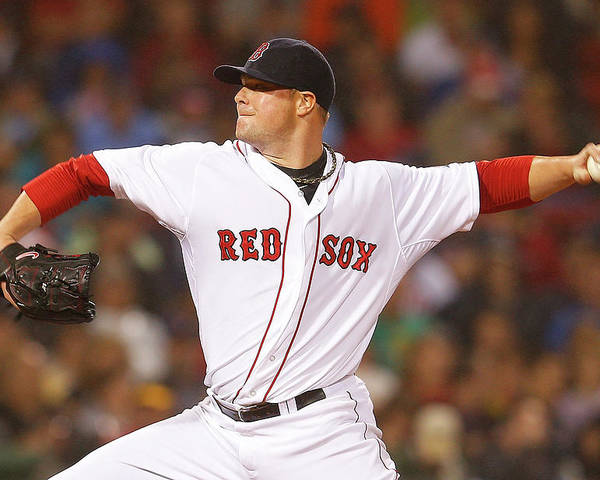 American League Baseball Poster featuring the photograph Jon Lester by Jim Rogash