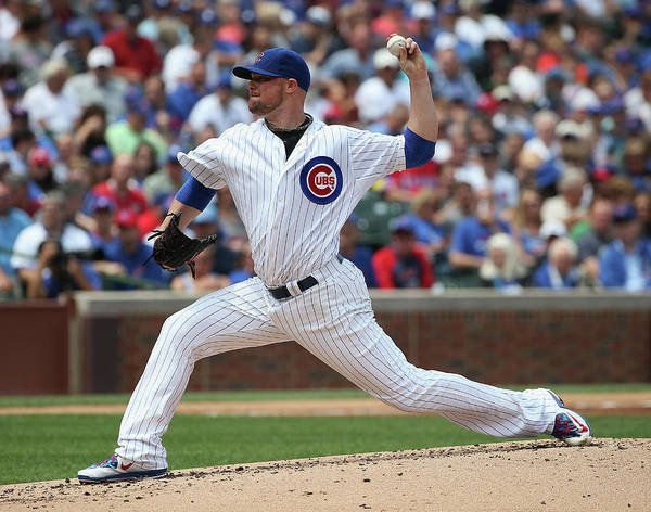 People Poster featuring the photograph Jon Lester by Jonathan Daniel