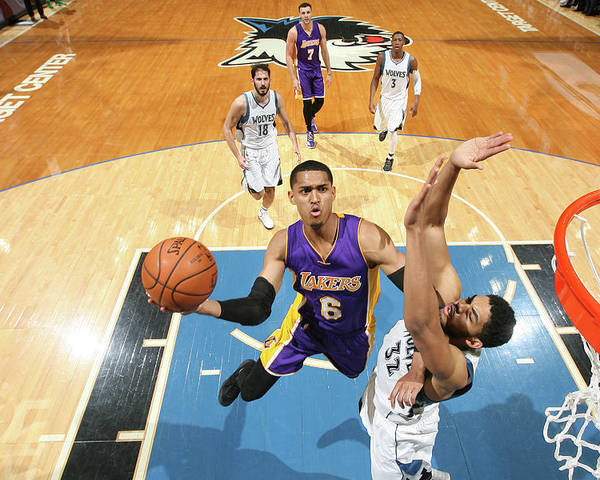 Nba Pro Basketball Poster featuring the photograph Jordan Clarkson by David Sherman