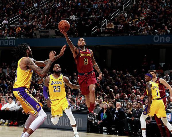 Nba Pro Basketball Poster featuring the photograph Jordan Clarkson by Nathaniel S. Butler