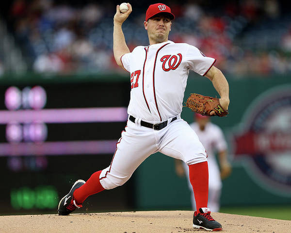 Working Poster featuring the photograph Jordan Zimmermann by Patrick Smith
