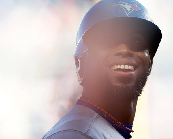 American League Baseball Poster featuring the photograph Jose Reyes by Mike Stobe