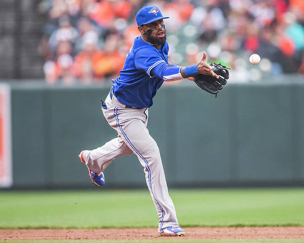 Double Play Poster featuring the photograph Jose Reyes by Rob Tringali
