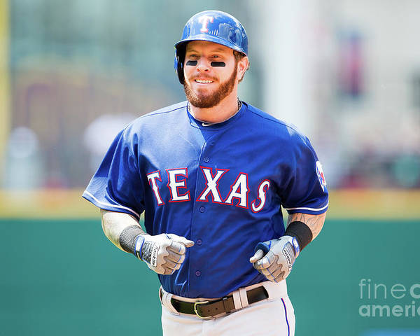 People Poster featuring the photograph Josh Hamilton by Jason Miller