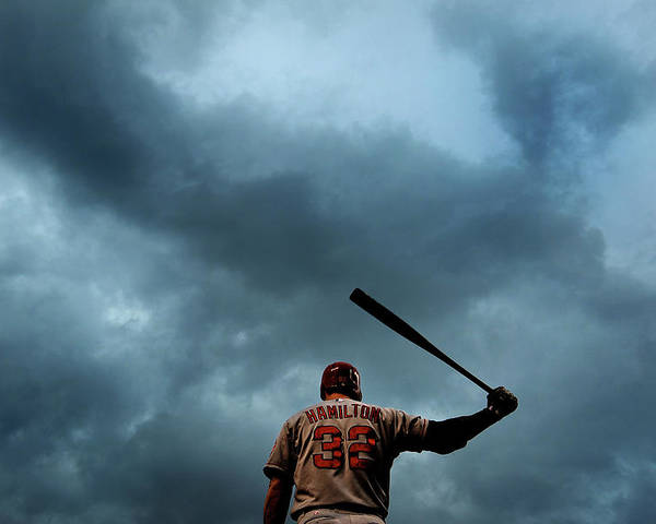 American League Baseball Poster featuring the photograph Josh Hamilton by Patrick Smith