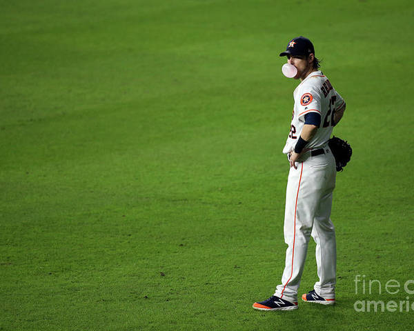 American League Baseball Poster featuring the photograph Josh Reddick by Cooper Neill